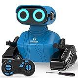 REMOKING RC Roboter Kinder Spielzeug, 2.4GHz Ferngesteuertes Auto mit Ton und Licht, Roboter Geschenk für Jungen und Mädchen (Blau)