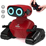 GILOBABY RC Roboter Spielzeug , Elektrisches Ferngesteuertes Autos Spielzeug , Fahrzeuge des Lernens und der Ausbildungs Technik, Rote Farbe Ferngesteuertes Roboter mit Lichtern/Ton , Kinder RC Auto