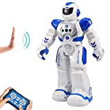 HUSAN Kinder Ferngesteuerter Roboter, Intelligenter Tanzen-Roboter mit Infrarotprüfer-Spielwaren, programmierbar, singend, LED-Augen, Gesten-abfühlender Roboter der Kinder