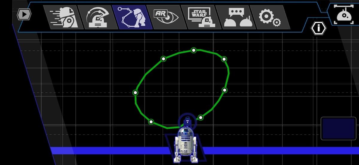 Sphero R2D2 Draw-Modus