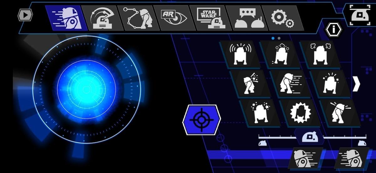 Sphero R2D2 Fahr-Modus